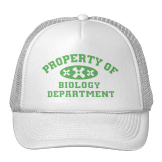 Property Of Biology Department Mesh Hats