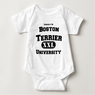 Property of Boston Terrier University Baby Bodysuit