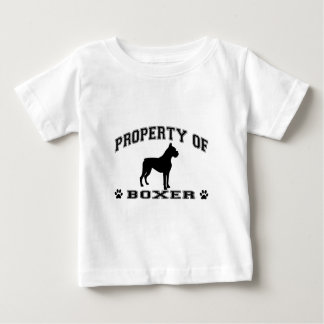 """Property of Boxer"" words with dog silhouette Baby T-Shirt"