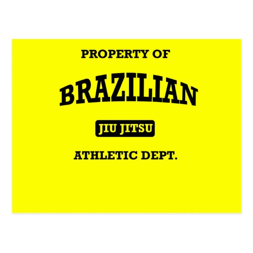 Property of Brazilian Jiu Jitsu Atheltic Departmen Postcard