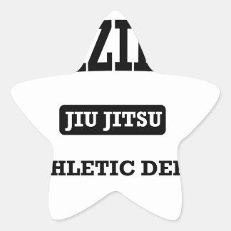 Property of Brazilian Jiu Jitsu Atheltic Departmen Star Sticker