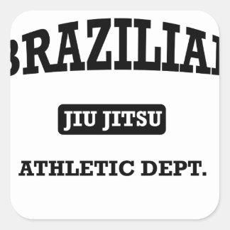 Property of Brazilian Jiu Jitsu Atheltic Departmen Square Stickers
