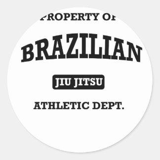 Property of Brazilian Jiu Jitsu Atheltic Departmen Sticker
