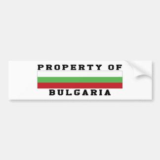 Property Of Bulgaria Bumper Sticker