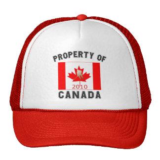 Property of Canada Canadian Hockey Flag Gold 2010 Trucker Hat