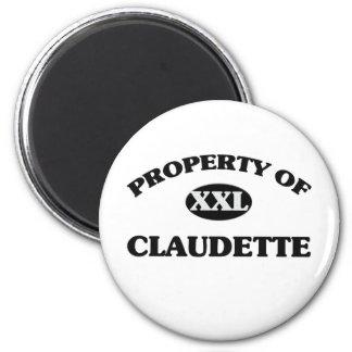Property of CLAUDETTE 6 Cm Round Magnet