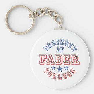 Property Of College Faber Basic Round Button Key Ring
