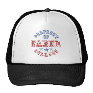 Property Of College Faber Trucker Hat