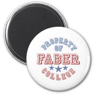 Property Of College Faber Fridge Magnets