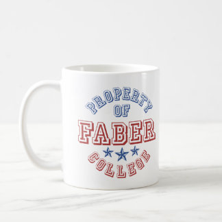 Property Of College Faber Coffee Mugs