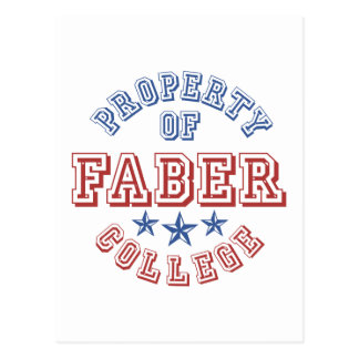 Property Of College Faber Postcard