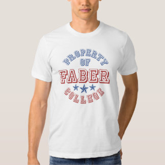 Property Of College Faber T-Shirt