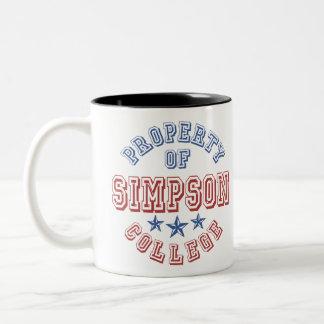 Property Of College Simpson Two-Tone Mug