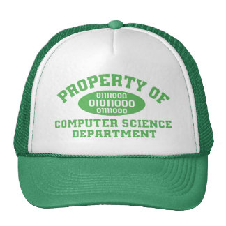 Property Of Computer Science Department (green) Cap