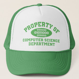 Property Of Computer Science Department (green) Trucker Hat
