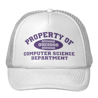 Property Of Computer Science Department (purple) Cap