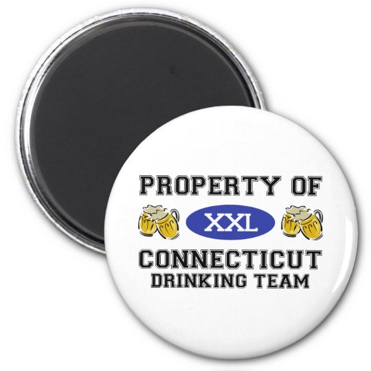 Property of Connecticut Drinking Team 6 Cm Round Magnet