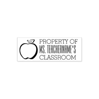 Property of Custom Teacher Name Classroom Self-inking Stamp