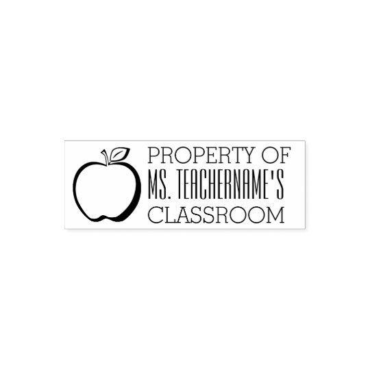Property of Custom Teacher Name Classroom Self-inking Stamp