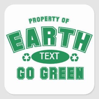 Property Of (Customizable) Earth Day Stickers