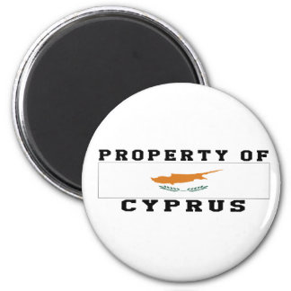 Property Of Cyprus 6 Cm Round Magnet