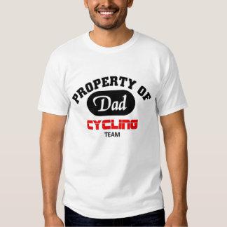 Property of Dad Cycling Team Tshirt