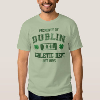Property of Dublin Athletic Department Irish T Shirt