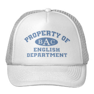 Property Of English Department Mesh Hats