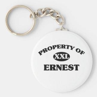 Property of ERNEST Keychain