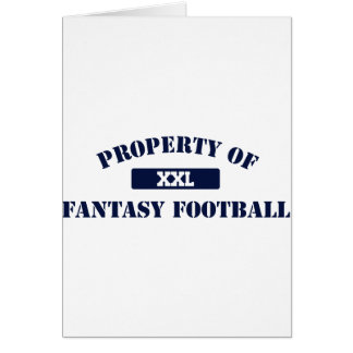Property of Fantasy Football Greeting Card
