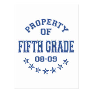 Property Of Fifth Grade Post Card