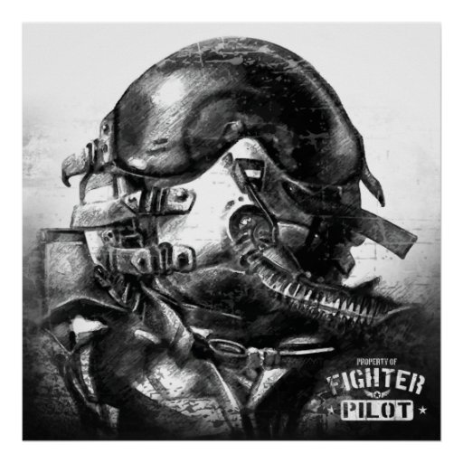 Property Of Fighter Pilot Poster