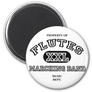 Property of Flutes Refrigerator Magnet