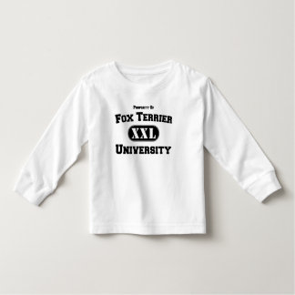 Property of Fox Terrier University Toddler T-Shirt
