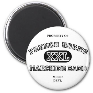Property of French Horns 6 Cm Round Magnet