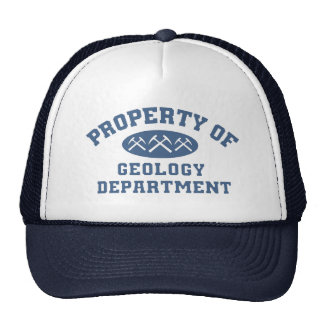 Property Of Geology Department Mesh Hat