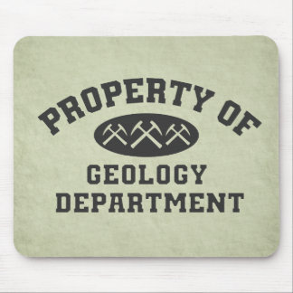 Property Of Geology Department Mouse Mat