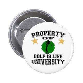Property Of Golfer University 6 Cm Round Badge