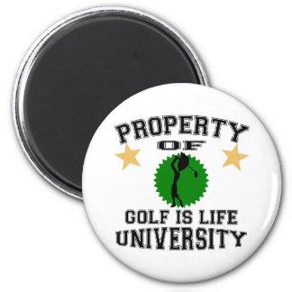 Property Of Golfer University 6 Cm Round Magnet