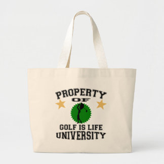 Property Of Golfer University Canvas Bags