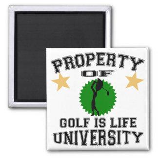 Property Of Golfer University Fridge Magnet