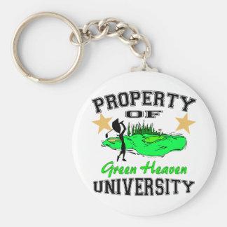 Property Of Golfer University Keychain