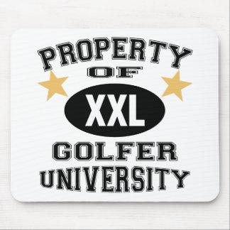 Property Of Golfer University Mouse Mat