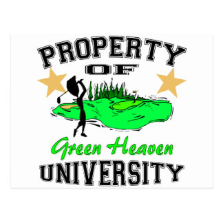Property Of Golfer University Postcard