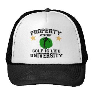 Property Of Golfer University Trucker Hat