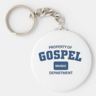Property of Gospel Music Basic Round Button Key Ring