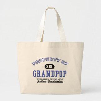 Property of Grandpop Canvas Bags