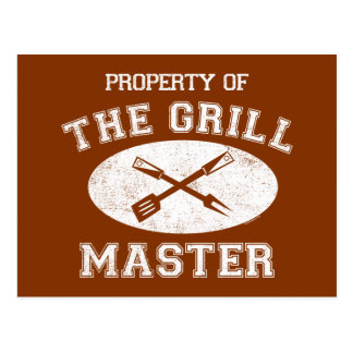 Property of Grill Master Postcard