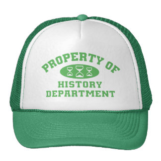 Property Of History Department (green) Cap