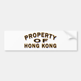 Property Of Hong Kong Bumper Stickers
